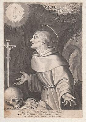 HL. St. SAN BERNARDINO da SIENA - Wonderful Original Engraving