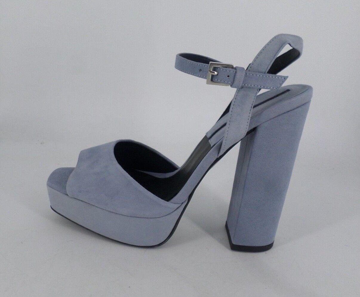 Zara Sandalias de de de plataforma de ante azul UK 5 EU 38 JS52 37  venta mundialmente famosa en línea