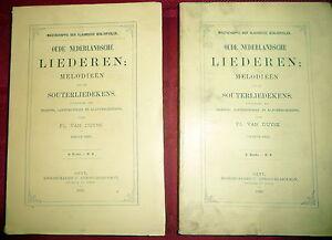 Details about Old Dutch Songs, Van Duyse  Souterliedekens  Flemish Hymns,  Music 1889 LtdEd 2V