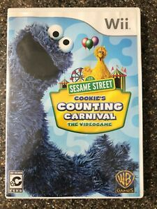 Sesame-Street-Cookie-039-s-Counting-Carnival-Nintendo-Wii-Clean-amp-Tested