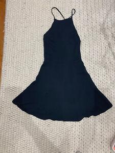 Reformation-Black-Open-Back-Dress