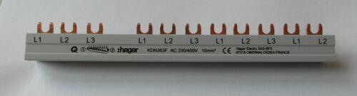 Hager KDN163A//KDN363F Kammschiene 1-3 PhasenKZN023 Endkappe