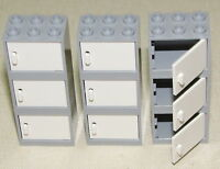 Lego 9 Light Grey Cupboard Container Drawers With White Doors Kitchen House