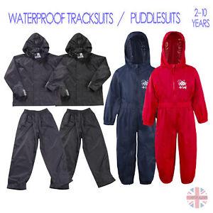 Boys-Kids-Waterproof-Tracksuit-Jacket-Coat-Trousers-Pants-Set-Outdoor-Camping