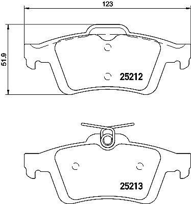 Mintex Rear Brake Pad Set MDB3150 BRAND NEW GENUINE 5 YEAR WARRANTY