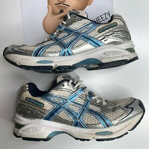 Details about (Wm 7.5) Asics Gel 240TR Womens Running Shoes SN757 Silver Blue White