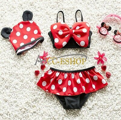 Kids Baby Girls 2pcs Tankini Bikini Set Swimwear Swimsuit Bathing Suit Beachwear