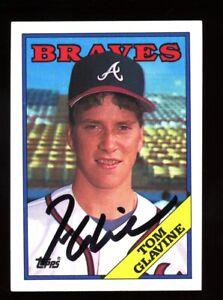 Tom Glavine Autograph Signed 1988 Topps RC Atlanta Braves