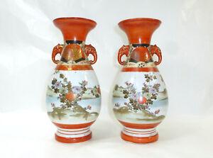 Gut FüR Energie Und Die Milz Mobiliar & Interieur Internationale Antiq. & Kunst Zwei Vasen Japan Meiji Kutani