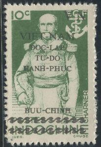 Vietnam Du Nord N°9** Amiral Leonard Charner 1945-1946 North Viet Nam Mnh (ngai) Produire Un Effet Vers Une Vision Claire