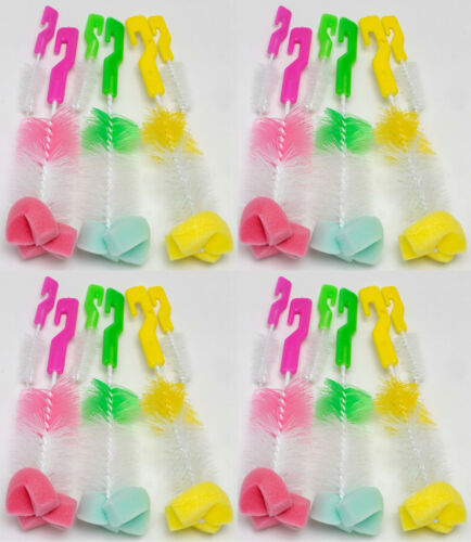 Sponge Brush Set for Baby Bottle Nipple Feeding Kitchen Cleaning glass cup dish