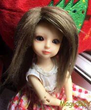 """5-6"""" 14cm BJD doll fabric fur wig Seaweed green wig bjd hair for 1/8 bjd dolls"""