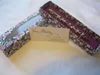 Vera Bradley Plum Petals Ball Point Pen Black Ink For Purse Tote Bag