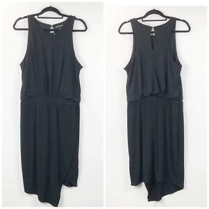 Banana-Republic-Large-Womens-Black-Sleeveless-Tulip-Hem-Blouson-Party-Dress