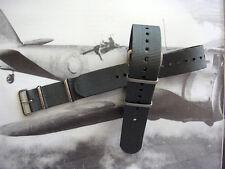 18mm British Admiralty Grey SS NATO G10 ballistic watch band RAF strap IW SUISSE