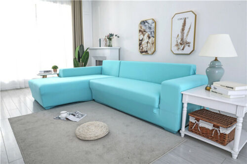1//2//3//4 Seater Elastic Sofa Cover Settee Stretch Solid Slipcover Couch Protector