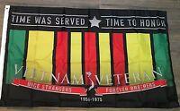 Vietnam Veteran Flag Ribbon Brothers Flags 3x5 Poly 2nd Amendment Thank You