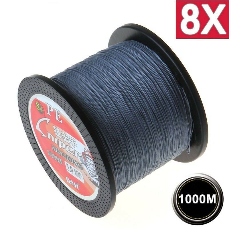 1000M 8X Super Strong Japan Multi  Filament 100% PE Braided Fishing line 8 Strand  retail stores