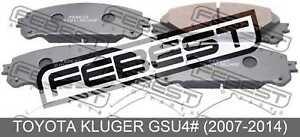 Pad-Kit-Disc-Brake-Front-Kit-For-Toyota-Kluger-Gsu4-2007-2014