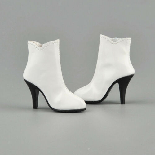 "1//6th Women/'s Female PU Leather Zipped Ankle Boots Shoes for 12/"" Action Figure"