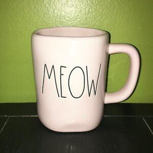 New-RAE-DUNN-Artisan-Collection-LL-034-MEOW-034-Pink-Mug-By-Magenta