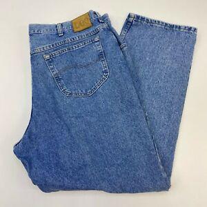 Lee-Jeans-Mens-42X30-Blue-Straight-Leg-100-Cotton-Medium-Wash-5-Pockets-Design