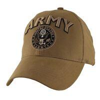 U.s. Army Logo Hat - Coyote Brown Baseball Cap 6636