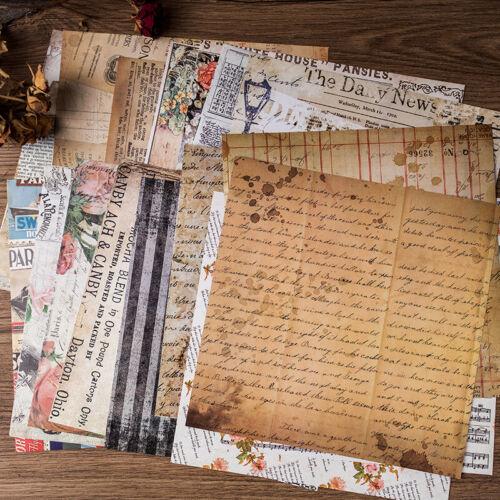 20Stk Album Hintergrund Noten Papier Karte Scrapbooking Pads DIY Papier Handwerk