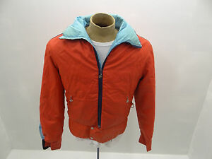 Vintage Used Ladies Orange Light Blue Obermeyer USA Winter Coat Ski ... 5c1c88a61