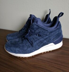 size 40 1793f 2ac03 Details about Asics Gel Lyte III MT Mid Shoes Peacoat Navy Blue Suede Cream  HL7Y1 5858 Sz 8