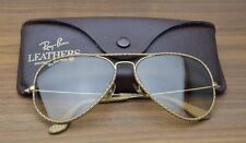 B&l AVIATOR leathers Ray Ban Vintage Bausch Lomb Glass Occhiali photoc