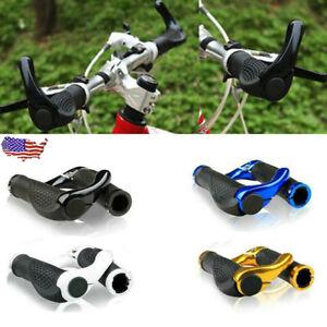 1 Pair Double Lock On Locking Mountain BMX Bike Bicycle Handle Bar Grips End USA