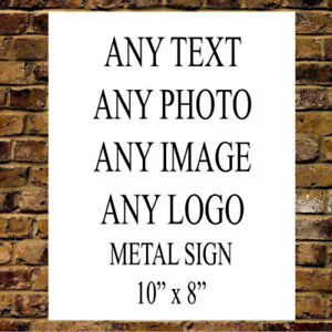 Personalised Custom Your Text Metal Sign House Office Plaque Large 2 Sizes Gift