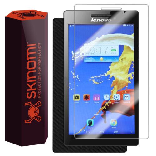 Skinomi Carbon Fiber Skin /& Screen Protector for Lenovo Tab 2 A7-10//A7-30