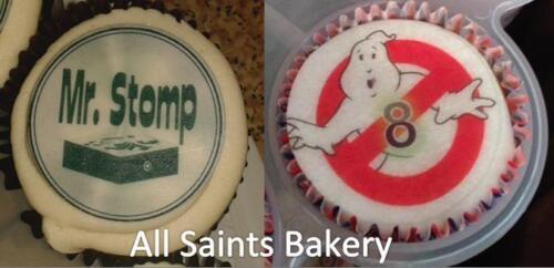 "Arsenal F.C Theme Cupcake Topper; 15 x 2/"" 50mm circles ."