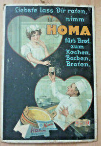 Original Homa Magarine Werbeschild, ca. 1920 Pappe                    (Art.5140)
