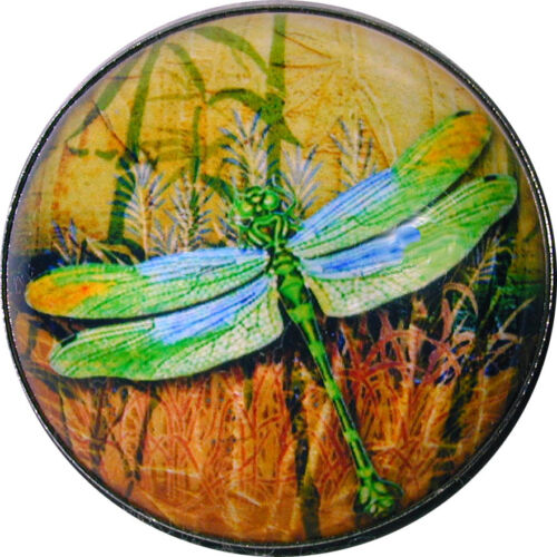 Beautiful Crystal Dome Button Dragonfly /& Bamboo w//Moon 1 /& 3//8 inch DFLY 67