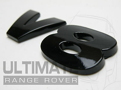 LAND RANGE 3D V8 ENGINE POWER DEFENDER COUNTY 90 110 DISCO BLACK REAR BACK BADGE