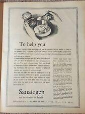 Vintage Original Sanatogen Print Advertisement AD 1960 Kitchenalia