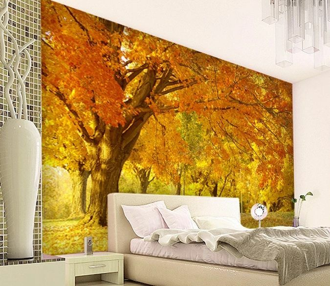 3D Autumn tree large 0159 Wall Paper Wall Print Decal Wall Deco AJ WALLPAPER