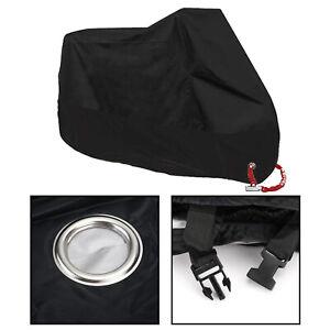 Noir-L-Housse-Bache-de-Moto-UV-Pluie-Protection-Couverture-Etanche-Respirable