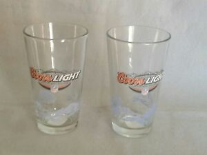 Set-of-2-Coors-Light-Beer-NFL-Pint-Glass-16oz