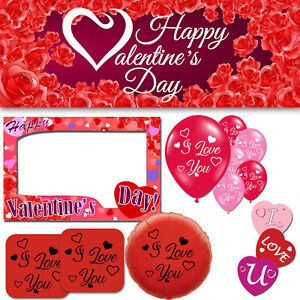 Happy St Valentines Day I Love You Heart Cupid Party Decorations