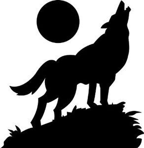lobo-aullando-a-la-luna-Decoracion-Pared-Pegatina-Vinilo-Calcomania