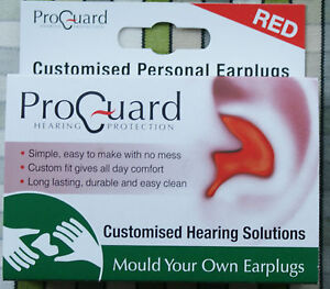 Proguard-Mould-Your-Own-MYO-Earplugs-effective-to-24dB-Red-DJ-Music-Musician