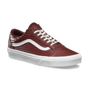4e838a5df074 VANS Old Skool (Moto Leather) Madder Brown Blanc de Blanc Women s ...