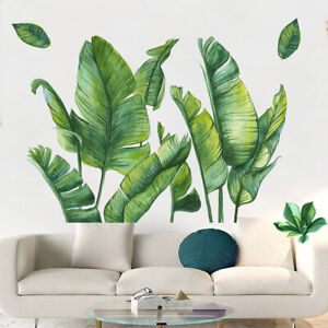 Tropical Leaves Green Plant Wall Stickers Vinyl Decal Living Room Art Mural Ebay These vinyl stickers and stencils of green tropical leaves are perfect for giving your nails a beautiful tropical look. ebay