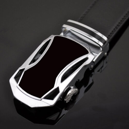 Luxury Casual Men/'s Automatic Buckle Leather Belt Ratchet Waist Waistband Strap