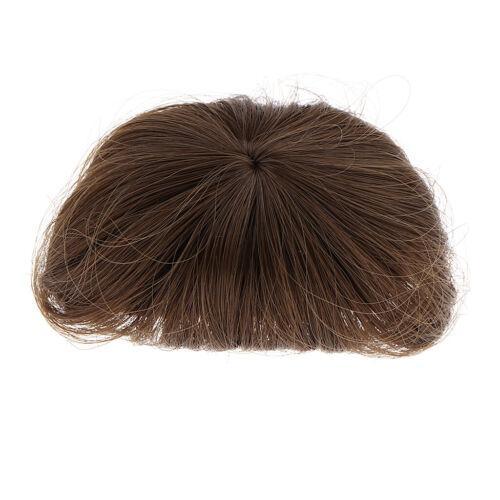Adorable Doll Wig Short Straight Bob Style w//Bangs for 1//8 BJD Dark Brown