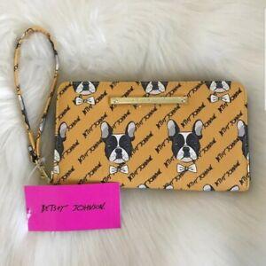 NWT-Betsey-Johnson-French-Bulldog-Boston-zipper-wallet